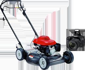 We buy Lawn mowers & cameras
